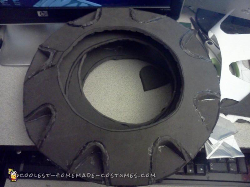 Assembling the pattern from EVA foam
