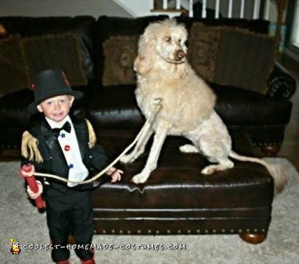 Cutest Toddler Lion Tamer Costume and Lion Dog