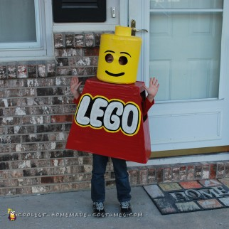 Little Lego Man Costume for Kids