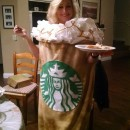 Starbuck's Latte Coffee Cup Costume