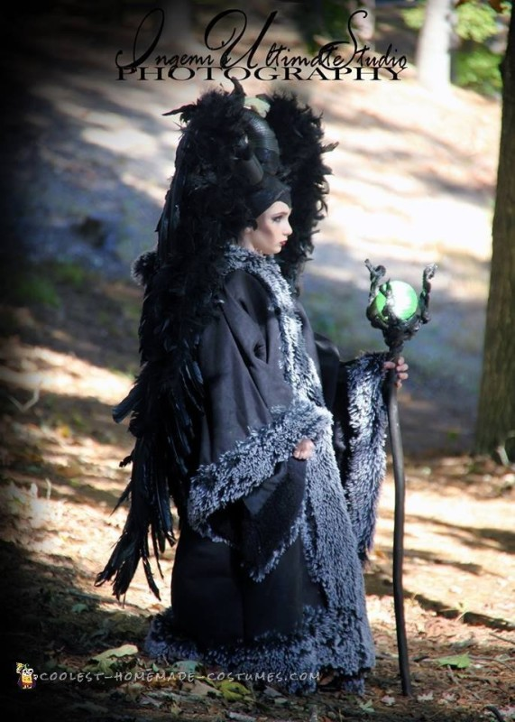 Side view of Maleficents costume