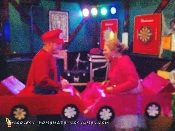 Mario Cart and Princess Peach Couple Costume - 1