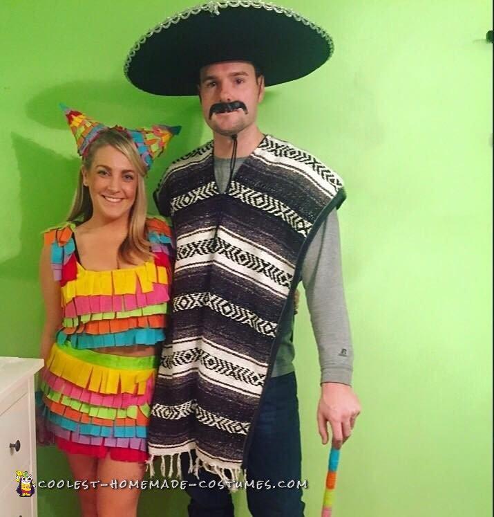 Mexican Pinata Couple Costume - 2