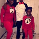 Mom, Daughter and Son Cat in the Hat Family Costumes
