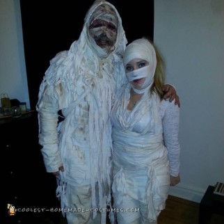 Mummy Madness Couple Costume