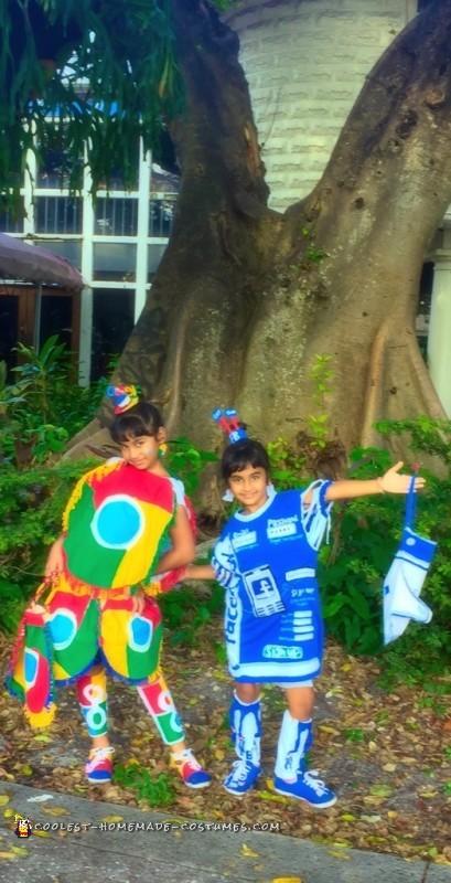 Google Chrome and Facebook Couple Costume - 4