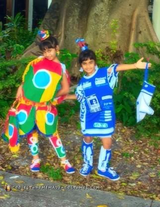 Google Chrome and Facebook Couple Costume