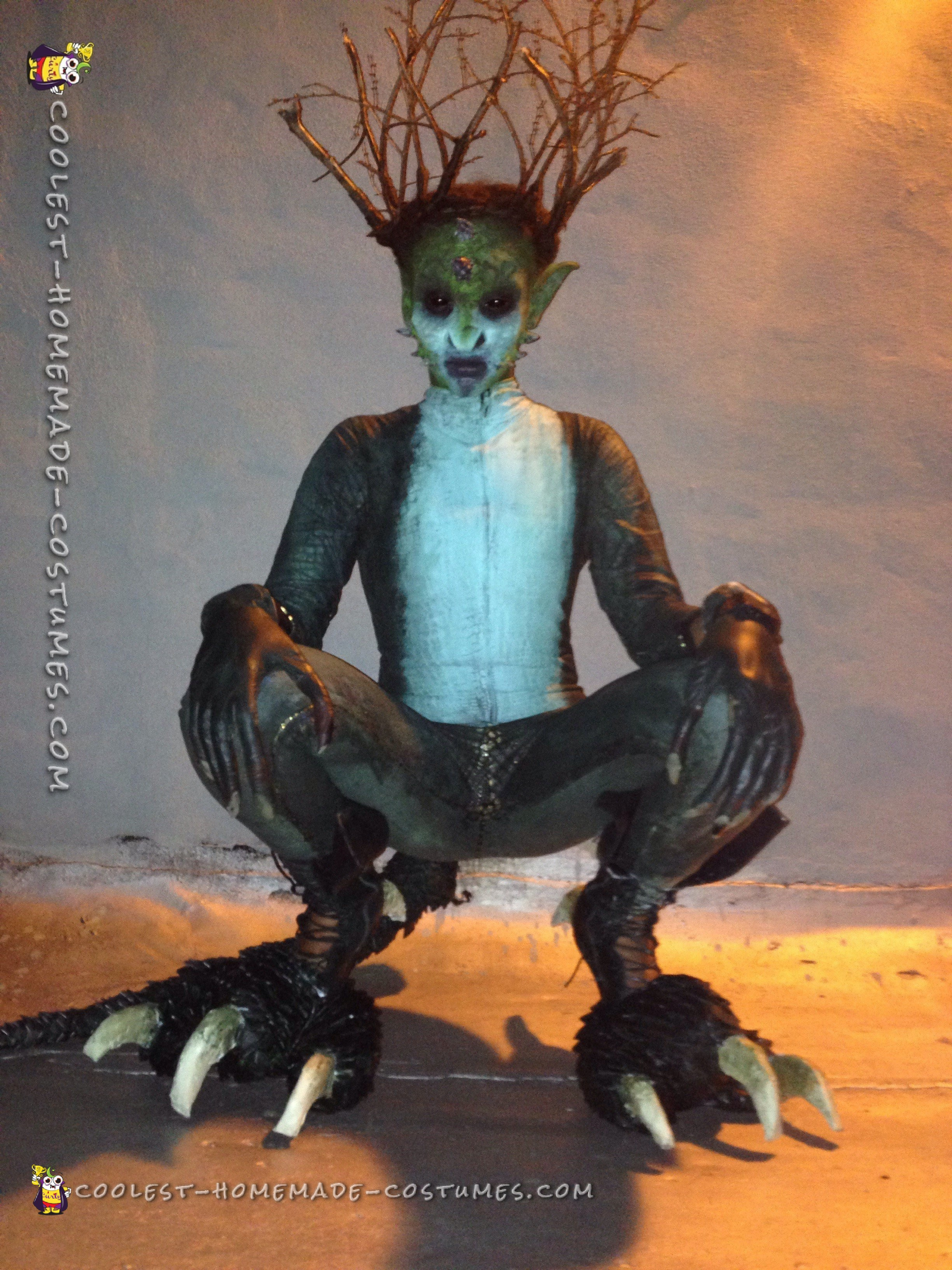 Awesome DIY Reptilian Alien Costume