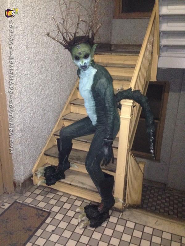 Alien in a hallway