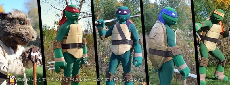 Coolest Ever Nickelodeon TMNT Group Costume - 1