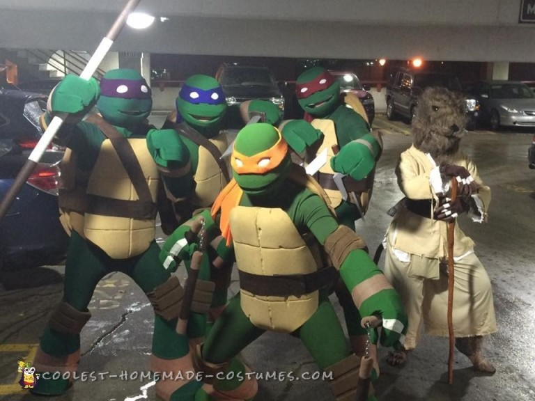 Coolest Ever Nickelodeon TMNT Group Costume