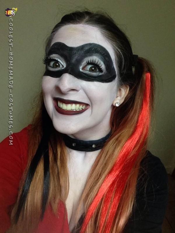 No-Sew Intricate Harley Quinn Costume