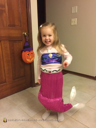 Our Little Mermaid in Costume