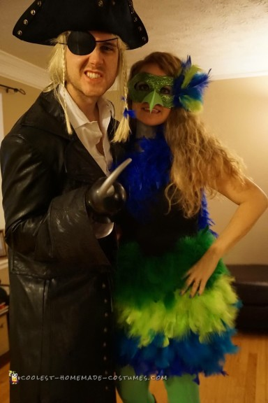 Parrot and Pirate Couple Costume