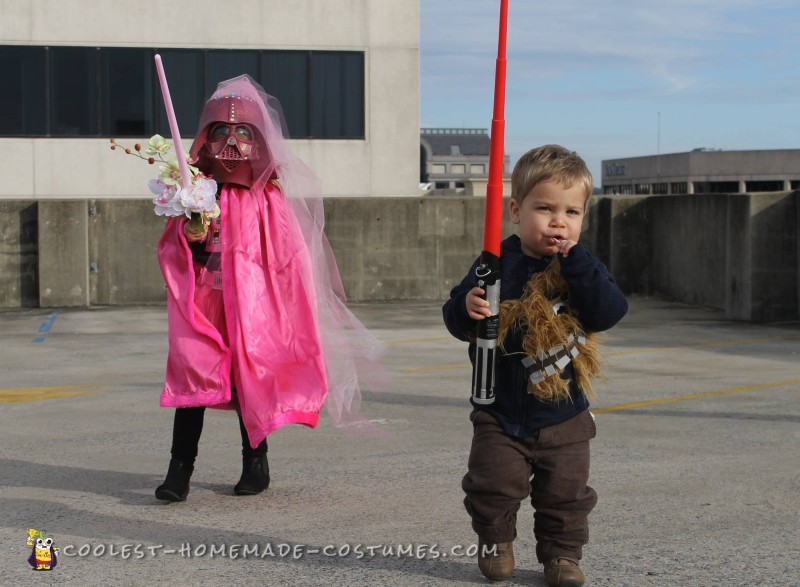 Cutest Ever Pink Darth Vader Costume - 1