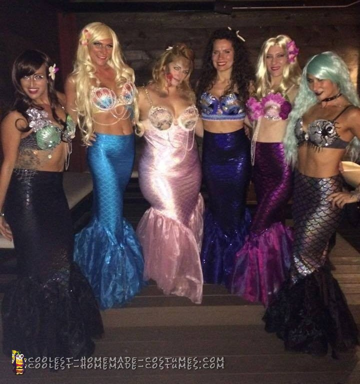 Pod of Sexy Mermaids - All Girl Group Costumes