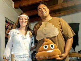 Poo and Toilet Paper Couple Costume