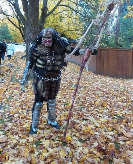 Predator Costume Made of Recycled Parts