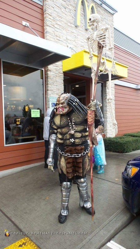 Predator Costume Made of Recycled Parts - 2