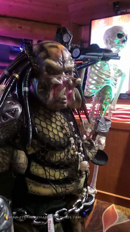 Predator Costume Made of Recycled Parts - 3