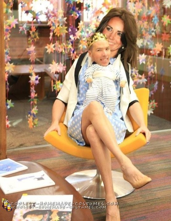Princess Kate and Baby George Illusion Costume