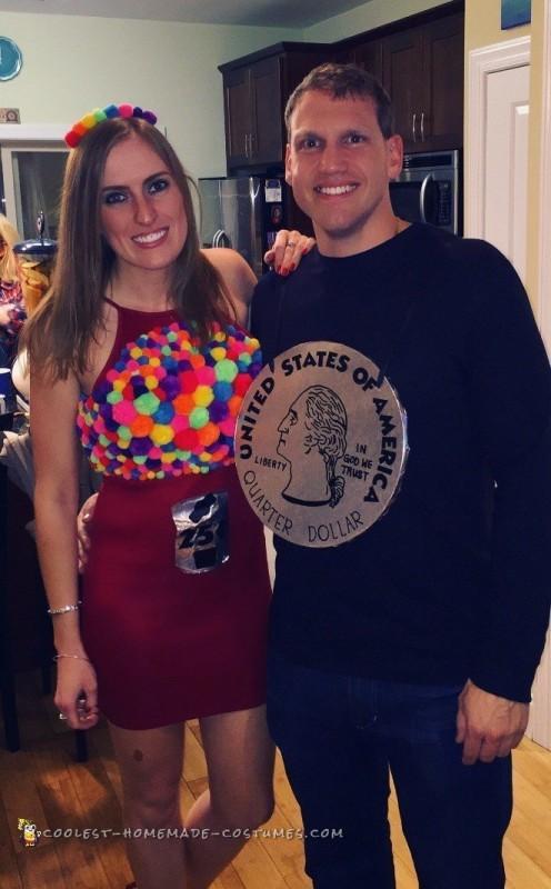 Put the Quarter in the Gumball Machine Couple Costume