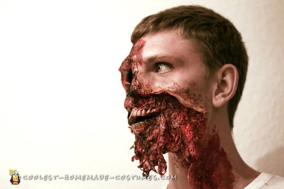 Realistic Exploded Face Make Up