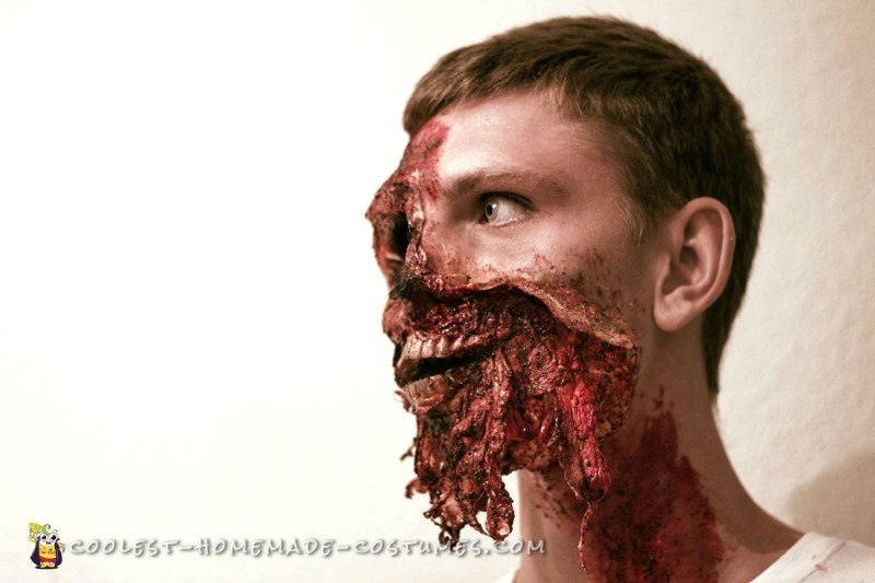 Realistic Exploded Face Make Up - 1
