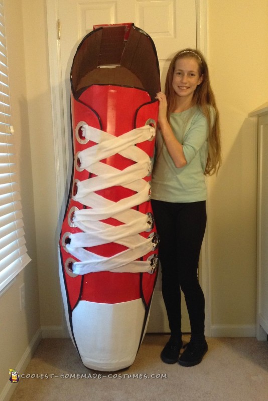 This is me with my shoe costume