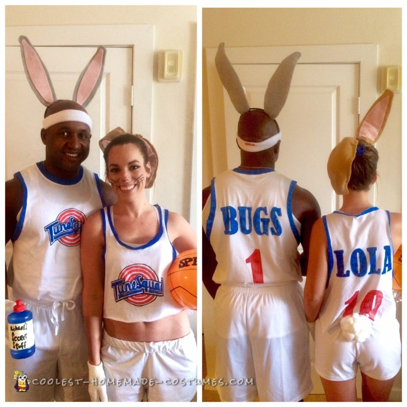 Space Jam's Bugs and Lola Bunny Couple Costume