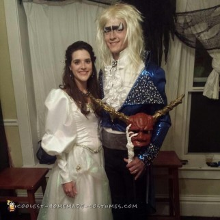 Spot on Sarah and Jareth Costumes from Labyrinth!