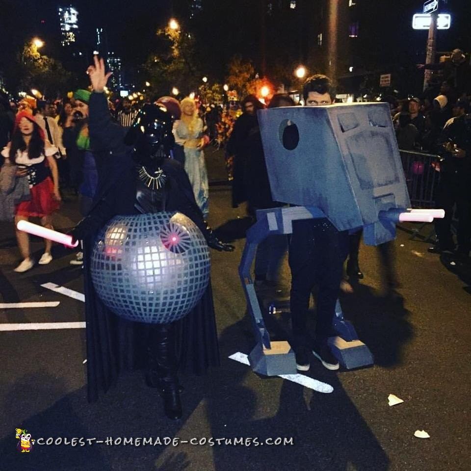 Coolest Ever Darth Star and AT-ST Couple Costume