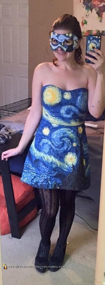 Starry Night Painting Costume