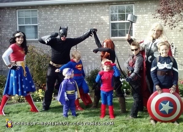 DIY Super Hero Family Costumes