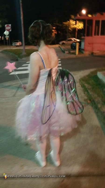 From behing I looked like a normal fairy. Here are the wings that I made.