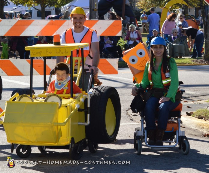 The Amazing Scoop and Bob the Builder Costume