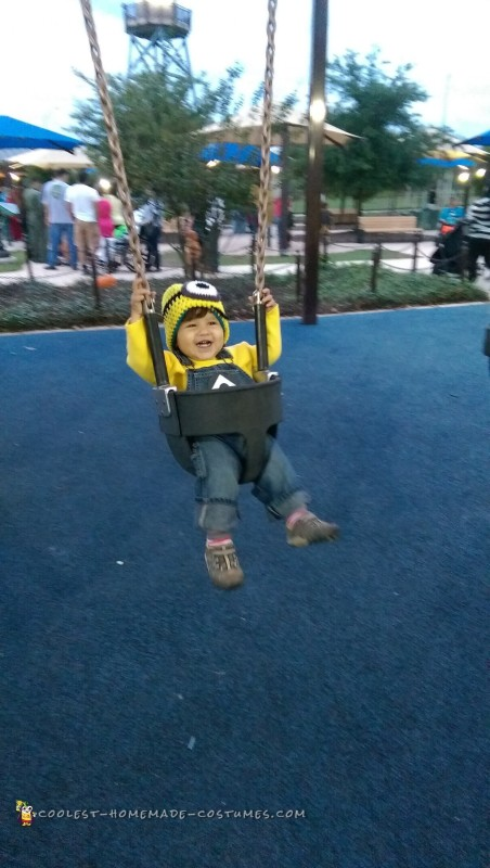 Minions love to swing