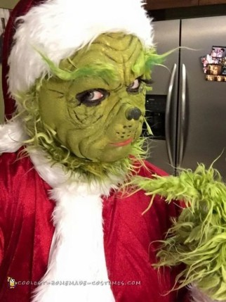The Grinch Costume with Laytex Mask and Makeup