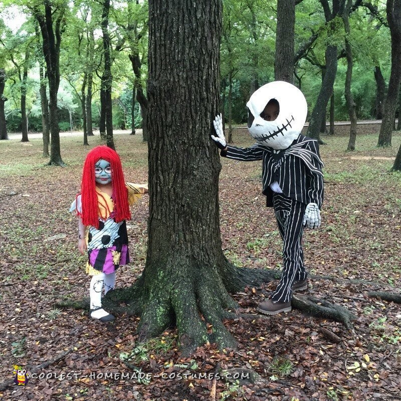 Mini Jack and Sally Skellington Costumes