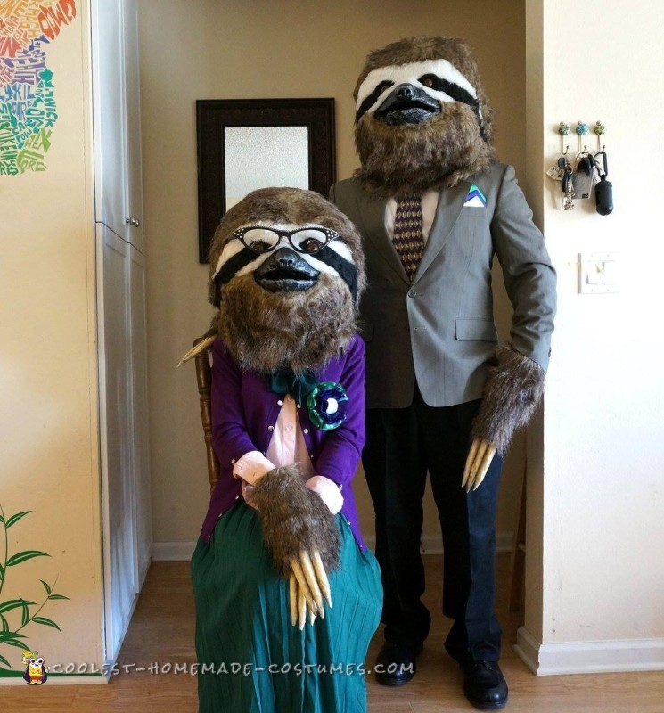 Coolest Sloth Couple Costume
