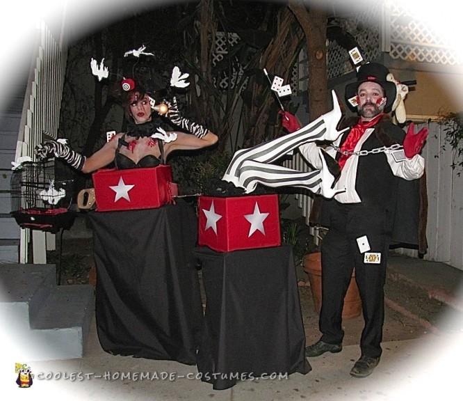 Magic Act Gone Wrong Couple Costume