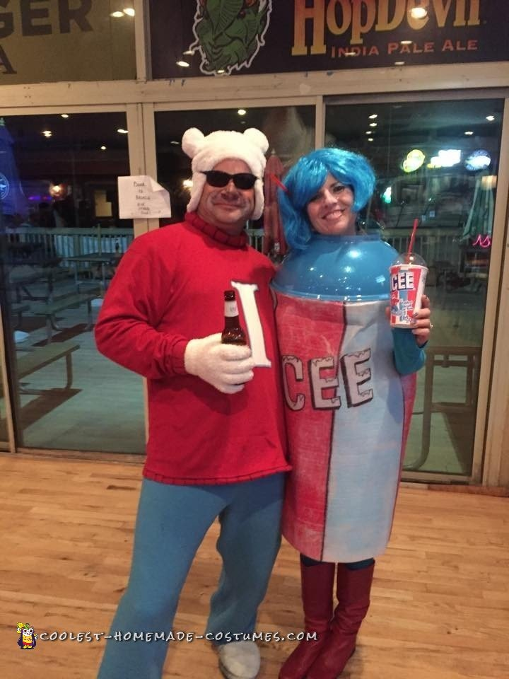 The Coolest ICEE and Polar Bear Couple Costume