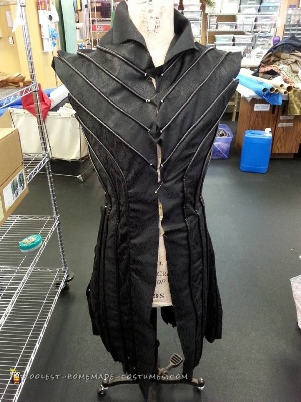 Front of the tunic, prior to adding the lining and sleeves