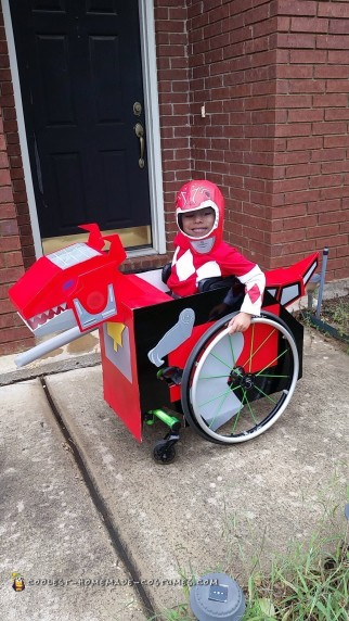 Toddler's Creative Dinozord Wheelchair Costume!