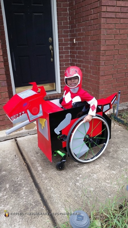 Toddler's Creative Dinozord Wheelchair Costume!