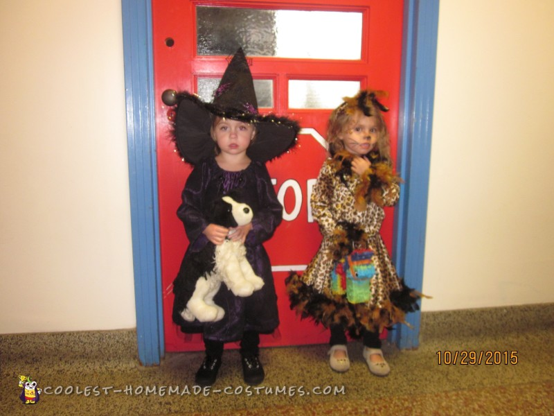 At Her school costume party with her BFF