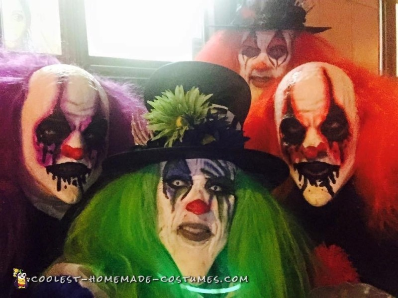 Trick And Treat Scary Halloween Clowns