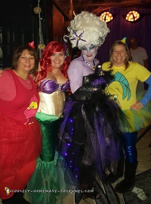 me and my girls! Sebastian, Ariel, and Flounder!!