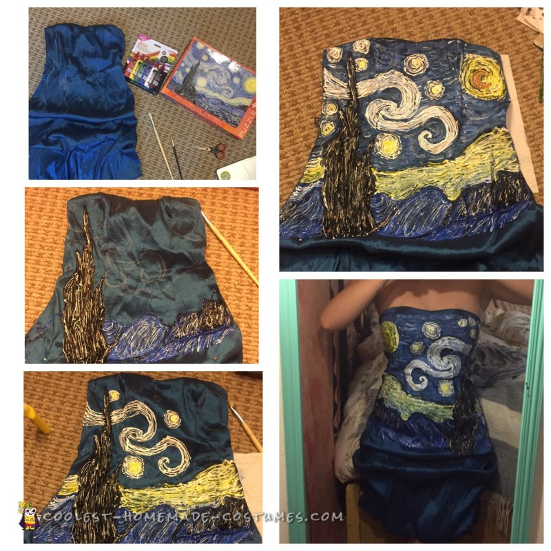 The painting of the Starry Night dress