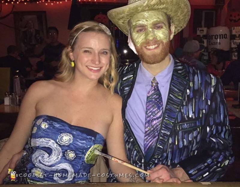 Van Gogh and Starry Night Creative Couple Costume